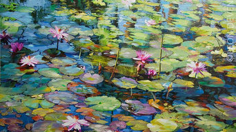 Lily art , Lily Painting, Original Paintings for Sale by Leon Devenice