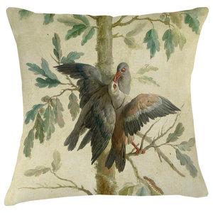 Velvet Tableau Cushion, Dove