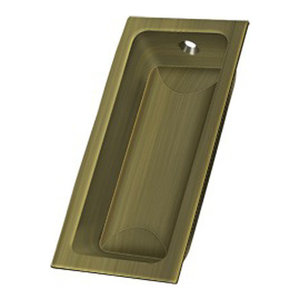 "FP227U5 Flush Pull, Large, 3-5/8"" x 1-3/4"" x 1/2"", Antique Brass"