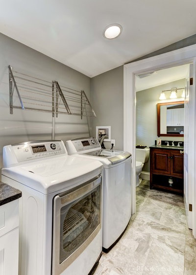 Where should you put your laundry room Adding bathroom to laundry room