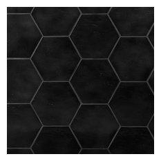 Appaloosa Hexagon 7 in. x 8 in. Porcelain Floor and Wall Tile, Black