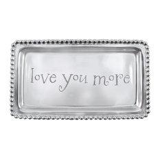 "Mariposa ""Love You More"" Beaded Tray"