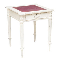 Mahogany Writing Desk, White