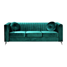 Us Pride Furniture Corp Aadvik Chesterfield Sofa Green Sofas