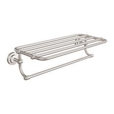 Iso Towel Shelf, Brushed Nickel