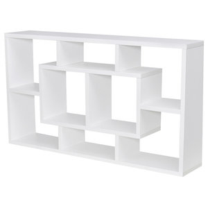 VidaXL Floating Wall Display Shelf 8 Compartments, White
