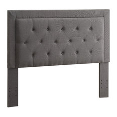 Linon Clayton Full/Queen Upholstered Headboard In Gray