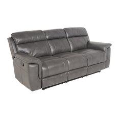 Steve Silver Company   Dakota Recliner Sofa, Gray   Sofas