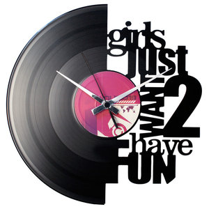 Girls Just Want 2 Have Fun Wall Clock