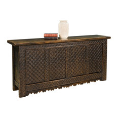 79-inch Abele Style Sideboard Reclaimed Solid Pine Wood Black Rubbed