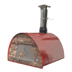 Maximus Arena Wood Fire Pizza Oven, Red