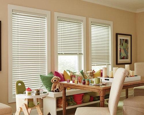 Custom Window Treatments   White Mini Blinds   Lafayette Interior Fashions    Window Treatments
