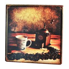 "Metal Wall Art/Modern Art Painting For Home Decor Hang Abstract ""Coffee"""