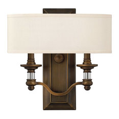 Hinkley Lighting 4900 Sussex 2-Light Indoor Double Sconce Wall Sconce