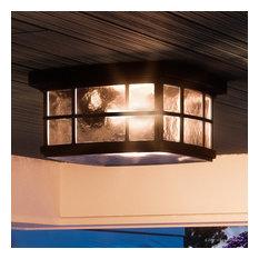Luxury Craftsman Black Outdoor Ceiling Light, UQL1248, Zurich Collection