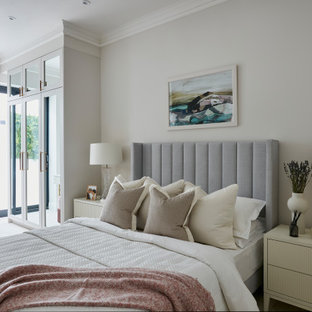 Inspiration for a classic bedroom in London.