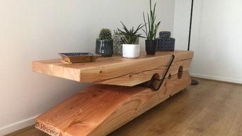 Table basse sur-mesure (projet pince-à-linge)