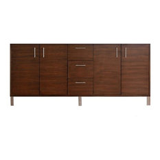 "72"" Metropolitan Double Cabinet Only Without Top, American Walnut"
