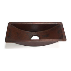 Rectangular Bar Copper Sink Undermount Or Drop In, With Matching Solid Copper Dr