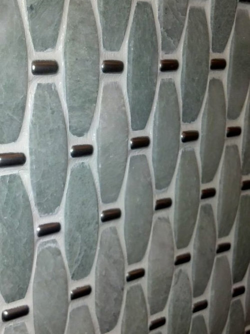 Ming Green with silver metal Mosaic - Mosaic Tile