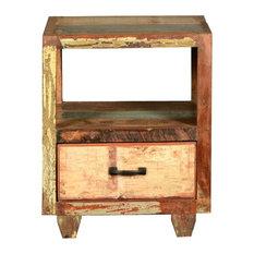 Versa Reclaimed Wood Open Back 1 Drawer Nightstand