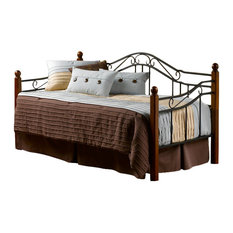 hillsdale furniture hillsdale madison wood and metal daybed in cherry finish daybeds