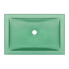 MR Direct Sinks And Faucets   Undermount Rectangular Glass Sink, Emerald    Bathroom Sinks