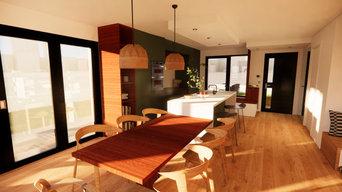 Aménagement pièce de vie dans une maison neuve