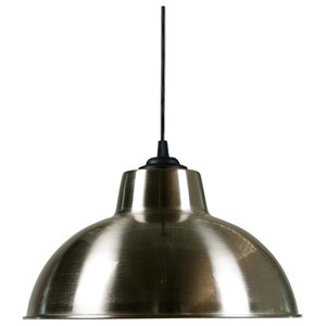 Dome Industrial Silver Metal Pendant Light