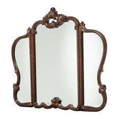 AICO Platine de Royale Vanity Mirror, Light Espresso