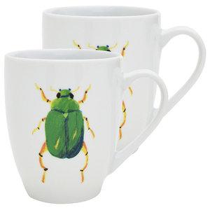 Beetle Mugs, Set of 2