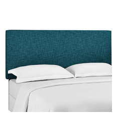 Teal Taylor Full / Queen Upholstered Linen Fabric Headboard