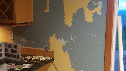 Semi Gross Paint Is Peeling Off Wall In Sheets