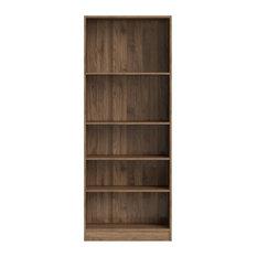 Tvilum Element Tall Wide 5-Shelf Bookcase, Walnut