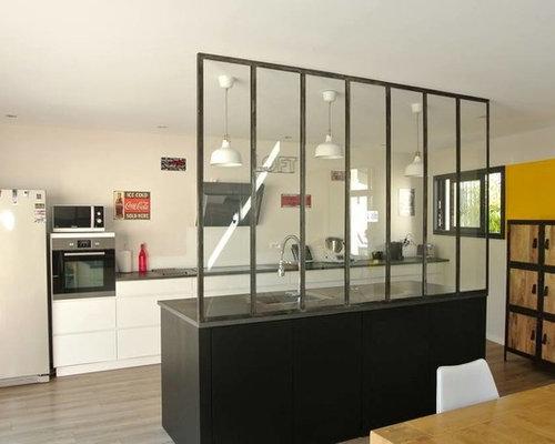 verri re et miroir style industriel. Black Bedroom Furniture Sets. Home Design Ideas