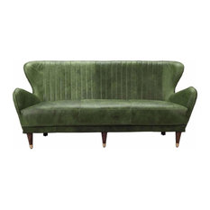 Moe Home Retro Sofa Chartreuse Finish