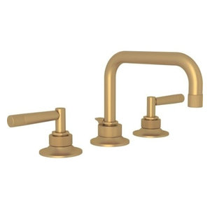 Rohl MB2009LM-2 Michael Berman Double Handle Lavatory Faucet, French Brass