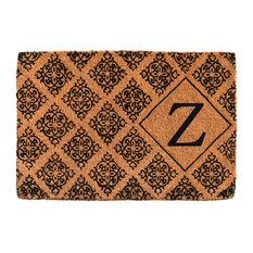 """Regency Monogram Doormat, 24""""x36""""x1.5"""", Letter Z"""