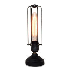 LightingWorld   Cage Table Dimmable Lamp, Hexagon Iron Cage   Table Lamps Part 74