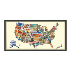 """""""Across America"""" Hand Made Signed Art Collage"""