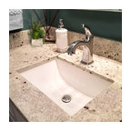 "Nantucket Sinks 16""x11"" Undermount Ceramic Sink, White"