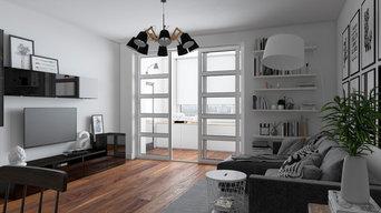 Интерьер квартиры 45м2 в скандинавском стиле