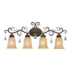 Craftmade 25604 Englewood 4-Light Bathroom Vanity Light, French Roast