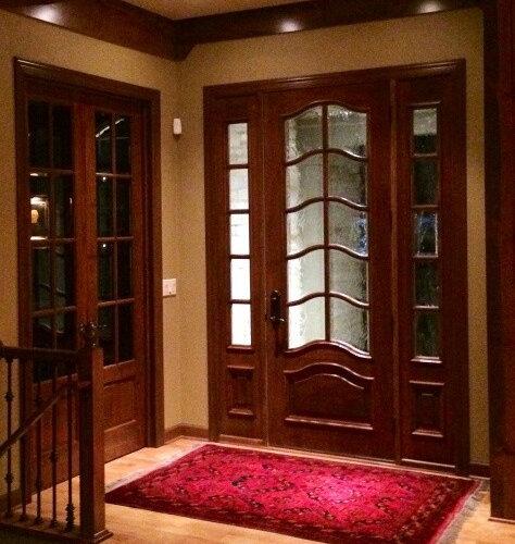 Custom Wood Simpson Entry Door and LeMieux Interior Doors in Elm Grove WI Home - & Wood Entry Doors