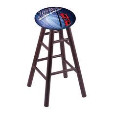 Oak Bar Stool Dark Cherry Finish With Tulsa Seat 30-inch