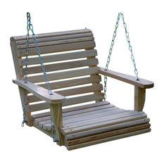 Louisiana Cypress Swings & Things - 2' Cypress Roll Swing - Porch Swings