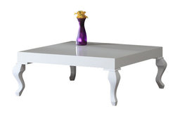 Glossy Lacquer Lukens Coffee Table, White
