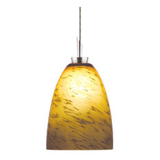 Light Monorail Adapt Low Voltage Pendant, Amaretto Patterned Cased Glass