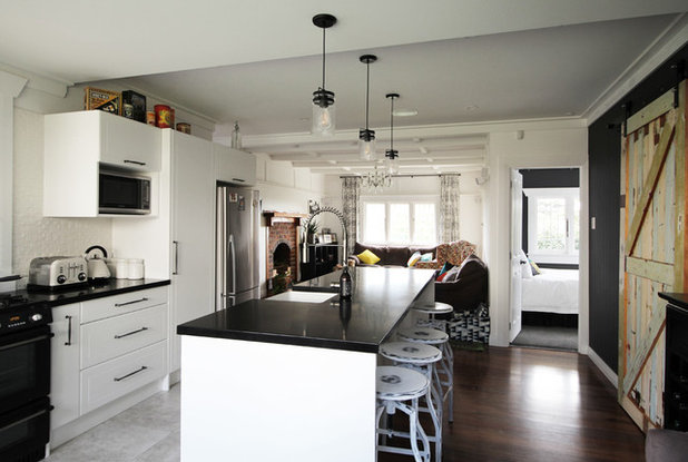 Transitional Kitchen by Lou Brown Design