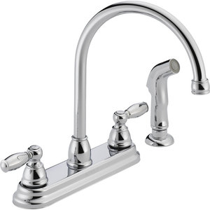 Delta 2497lf Cassidy Kitchen Faucet With Side Spray